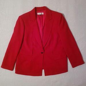 Tahari ASL Red Blazer with Pockets Size 16W